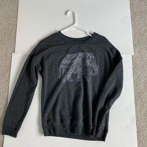 crew neck elephant sweatshirt